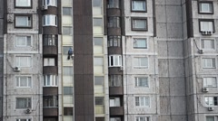 Workers Washing The Windows Facade - Industrial Alpinism Stock Footage