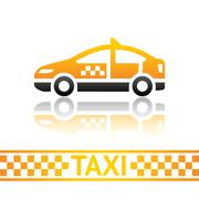 Taxi cab icon Stock Illustration