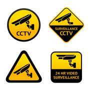 Video surveillance, set symbols Stock Illustration