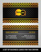 Visiting cards - taxi Stock Illustration
