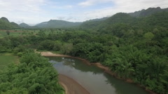 Drone over River Kwai Part 2 Stock Footage