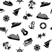 Wrapping paper - transport icons, 10eps Stock Illustration