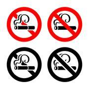 Set signs - No smoking Stock Illustration