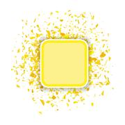 Yellow Confetti Banner Stock Illustration