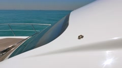 Luxury motor boat, motoryacht, Stock Footage