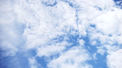 Fresh cloud of flow (blue sky, weather, smooth) Stock Footage