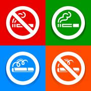 Stickers multicolored - No smoking area sign Stock Illustration