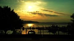 Belmont Bay Sunrise Stock Footage