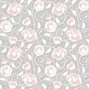 Seamless-wallpaper pattern with of roses Stock Illustration