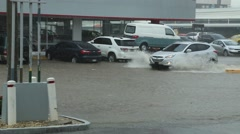 Flooded Streets in Panama Stock Footage