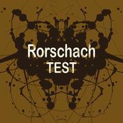 Rorschach inkblot test vector illustration. Random abstract background of Stock Illustration