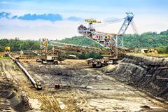 Open-pit coal mine Stock Photos