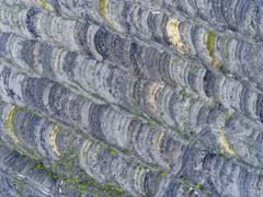 Coal mine in south of Poland. Destroyed land. View from above. Stock Photos