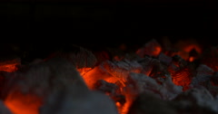 Hot coals Stock Footage
