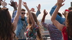 Clubbers Waving Their Arms in the Air Stock Footage