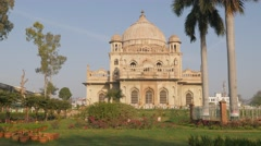 Tomb of Saadat Ali Khan and gardens,Lucknow,India Stock Footage