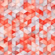Vector Seamless Multicolor Gradient Triangle Shape Grid Geometric Pattern Stock Illustration