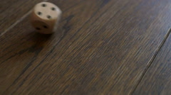 Wooden dice Stock Footage