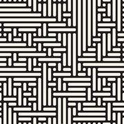 Vector Seamless Rounded Irregular Lines Pattern Stock Illustration