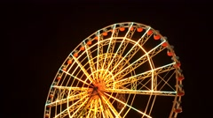 Colorful Ferris Wheel At night Stock Footage