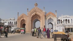 Gate to Chota Imambara,Lucknow,India Stock Footage