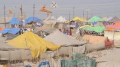 Tent camp for pilgrims,Allahabad,Kumbh Mela,India Stock Footage