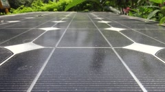 4K Hd Ultra, Photovoltaic cells of solar panel, Clean electric energy solar-Dan Stock Footage