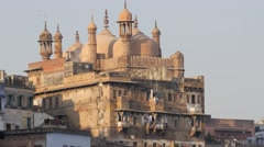Aurangazeb Mosque,Varanasi,India Stock Footage