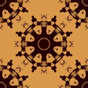 Rorschach inkblot test vector seamless. Abstract blob pattern. For fabric Stock Illustration