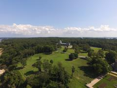 Aerial shot of Sands Point Preserve in NY, Property Shot Stock Photos