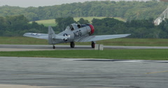 World War Two Single Engine Airplane with Running Engine 10bit, 4K Stock Footage