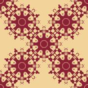 Seamless Symmetry Print Based on Inkblots Stock Illustration