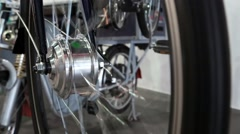 Bicycle electric wheel Stock Footage