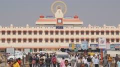 People at Railway station,Varanasi,India Stock Footage