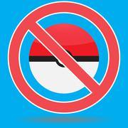 Ban pokemon go game Stock Illustration