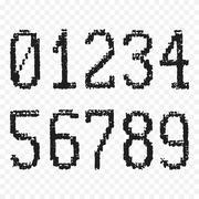 Grunge old numbers Piirros