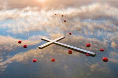 Reflection of Salvation Stock Photos