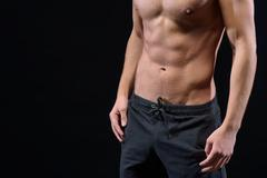 Sexy guy with trained body Stock Photos