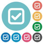Flat checkbox icons Stock Illustration