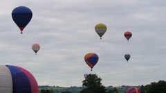 Hot air baloons Stock Footage