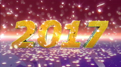 New Year 2017 Animation Stock Footage
