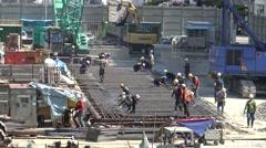 4K Construction Industry Workers Working Welding On Building Structure-Dan Stock Footage
