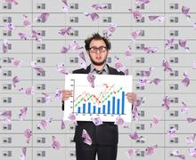 Frustrated trader Stock Photos