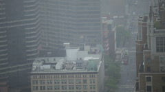 Detail of the traffic during foggy day at First Avenue in Manhattan, NYC Stock Footage