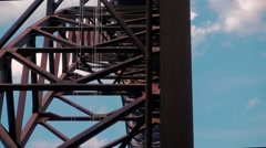 Under The New River Gorge Bridge Slider Shot Stock Footage