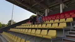 Sport fans watching match.4K Stock Footage