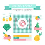 Healthy Food Vector Infographic Stock Illustration