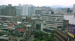 Birds Eye View Of Buildings in Taipei City-Dan Stock Footage