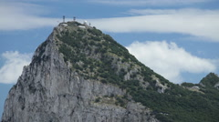 The summit of Gibraltar Rock Stock Footage
