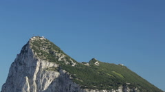 The Rock of Gibraltar with blue sky Stock Footage